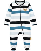 Steiff Romper BEAR BLUES stripes bright white 2011218-1000