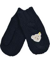 Steiff Knitted Gloves BLUE STRIPE black iris 1922526-3032