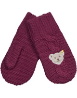 Steiff Strick-Handschuhe / Fäustlinge BLUEBERRY HILL beet red 1622626-4010