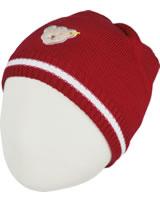 Steiff Strick-Mütze SEA BEAR tango red 2012413-4008