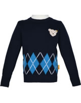 Steiff Strick-Pullover BLUE STRIPE black iris 1922519-3032
