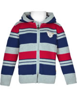 Steiff Cardigan with hood RED AND BLUE WINTER quarry 1921131-9007