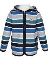 Steiff Sweat jacket hooded GO BEAR GO black iris 2011402-3032