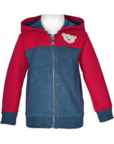 Steiff Sweat jacket hooded RED AND BLUE WINTER patriot blue 1921121-6033