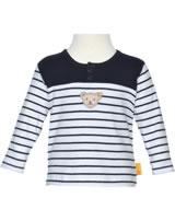 Steiff Sweatshirt BEAR BLUES stripes black iris 2011221-3032