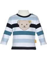 Steiff Sweatshirt BEAR BLUES stripes black iris 2011225-3032
