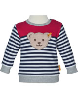 Steiff Sweatshirt COSY BLUE bright white 1921335-1000