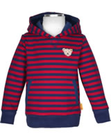 Steiff Sweatshirt hooded RED AND BLUE WINTER tango red 1921105-4008