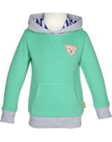 Steiff Sweatshirt m. Kapuze SUMMER BRIGHTS aqua green 001913121-5007