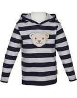 Steiff Sweatjacket hooded GO BEAR GO black iris 2011420-3032