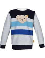 Steiff Sweatshirt mit Quietsche SAFARI BEAR soft grey melange 2013321-9007