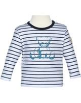 Steiff T-Shirt long sleeve BEAR BLUES stripes black iris 2011212-3032