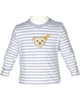 Steiff T-Shirt Langarm WINTER GREY stripe 6842811-0001