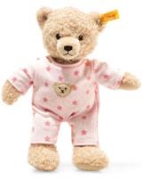 Steiff Teddybär Baby Mädchen mit Schlafanzug 25 cm beige/rosa 241659
