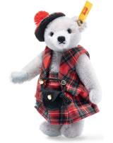 Steiff Teddybär Great Escapes Edinburgh 16 cm Mohair grau 026911