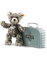 Steiff Teddybär Lommy grau/beige 25 cm im Koffer 109911