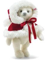 Steiff Weihnachtsteddybär Nicola 31 cm Mohair weiß 006890