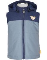 Steiff Vest with hood Bionic Finish RED AND BLUE WINTER quarry 1921128-9007