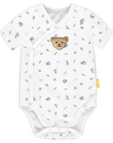 Steiff Wickelbody Kurzarm BEAR CREW bright white 2012102-1000