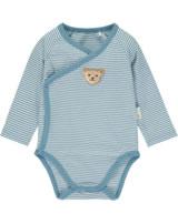 Steiff Wickelbody Langarm BABY UNISEX ORGANIC adriatic blue 2012306-6045