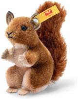 Steiff Wildlife Giftbox Eichhörnchem 10 cm stehend Mohair braun 033001
