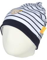Steiff Zipfel-Mütze BEAR BLUES Streifen black iris 2011201-3032