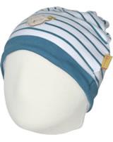 Steiff Zipfel-Mütze BEAR BLUES Streifen faience 2011201-6042