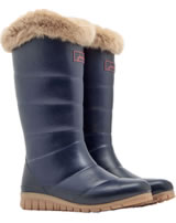 Tom Joule Women Tall Padded Welly With Fur Collar navy X_DOWNTON-MARNAVY