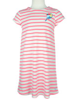 Tom Joule Sommer Kleid Kurzarm RIVERIA TUCAN cream pink stripe 203085
