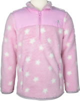 Tom Joule Teddyplüsch-Pullover m. Zipper STERNE pink Z_ODRELENA-PNKSTAR