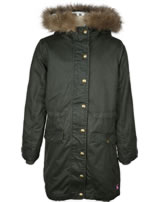Tom Joule Wax Parka with a hood dark green Z_ODRWYNTER-EVERGLD