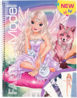 TOPModel Create your FANTASY MODEL livre à colorier avec autocollantes