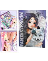 TOPModel Create your Glitter Card Creativeset Fantasy Model Wolf