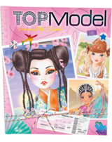 TOPModel Malbuch Around the World Talita, Candy, Nyela, Nadja, Miju