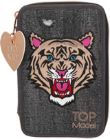 TOPModel Federtasche mit drei Fächern Tiger Jeans