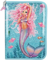 TOPModel Large pencil case with and filling Fantasy Model MERMAID blue