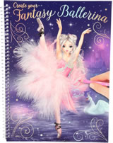 TOPModel livre à colorier Create your Fantasy Ballerina Louise