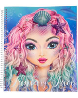 TOPModel livre à colorier Create your Fantasy Face Mermaid