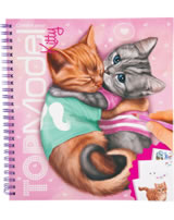 TOPModel livre à colorier Create your TOPModel Kitty
