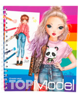 TOPModel colouring book Create your TOPModel Lexy and Nadja
