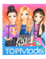 TOPModel Malbuch Create your TOPModel Miju, Christy und Hayden