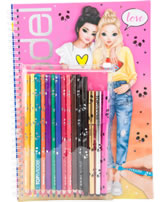 TOPModel painting book with pen set