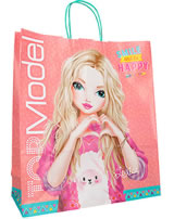 TOPModel paper bag Louise Smile and be happy