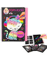 TOPModel Pocket Colouring Book Magic Scratch