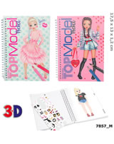 TOPModel Pocket Colouring Book With 3D Cover