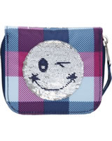 TOPModel Portmonee Streich-Pailletten Smiley blau