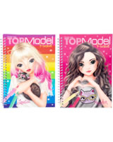 TOPModel pocket painting book with 3 D- cover