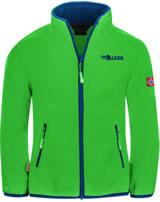 Trollkids Kids Fleece Jacket OPPDAL XT bright green/blue 414-304