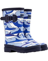 Tom Joule Wellingtons WELLY SHARK blue/white Y_JNRBOYSWLY-SHRKSTR
