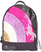 Ylvi and the Minimoomis Rucksack Regenbogen Glitter anthrazit